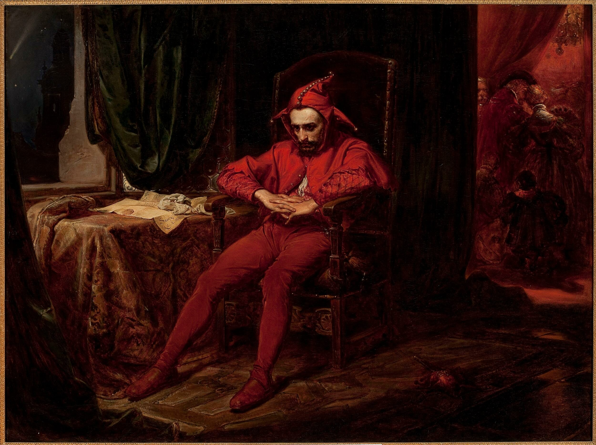 Na tym obrazie Matejki przedstawiony jest słynny błazen z epoki jagiellońskiej. Nazywał się: