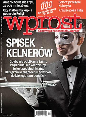 Okładka tygodnika Wprost nr 27/2014 (1635)