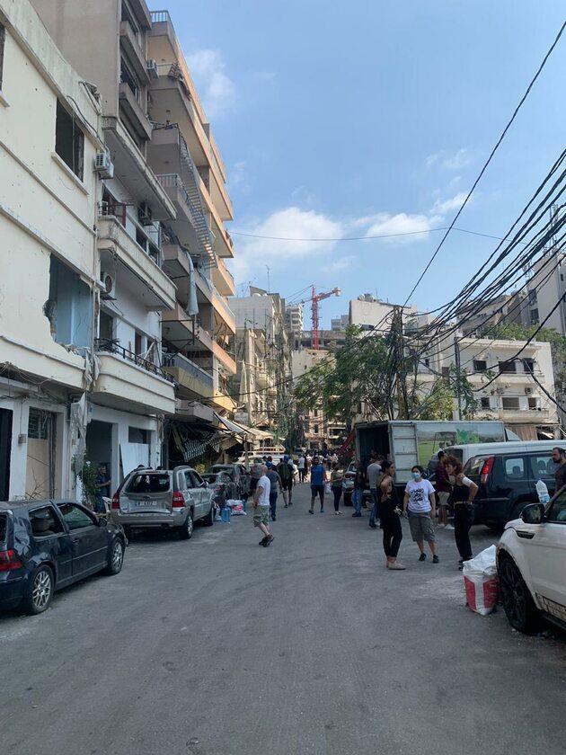 Bejrut po eksplozji