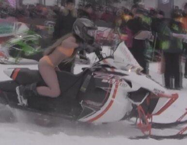 W bikini 190 km/h na skuterze śnieżnym. Akcja charytatywna dla chorych...