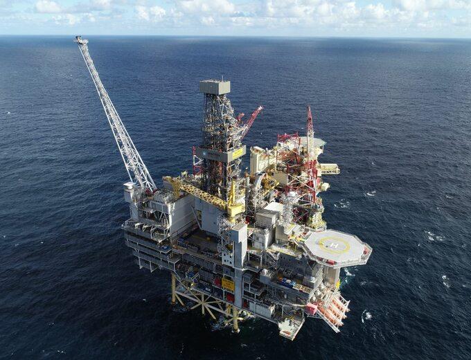 Platforma wydobywcza nazłożu Gina Krog naMorzu Północnym