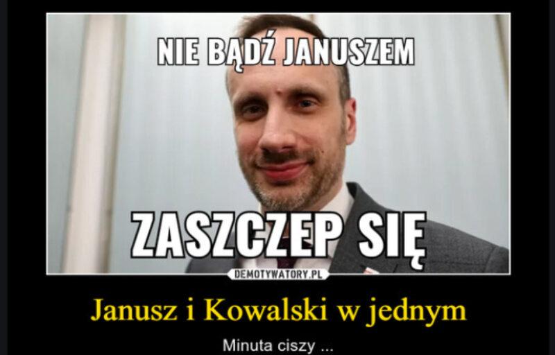Internauci nie zapomnieli, że Janusz Kowalski był sceptyczny wobec szczepień przeciwko COVID-19