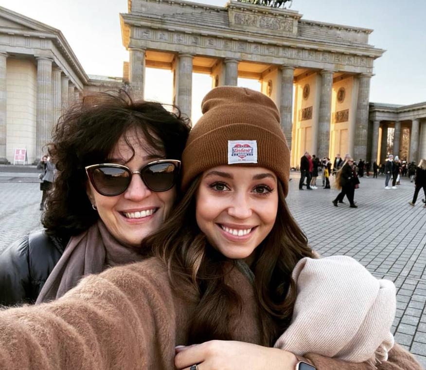 Izabela Krzan z mamą