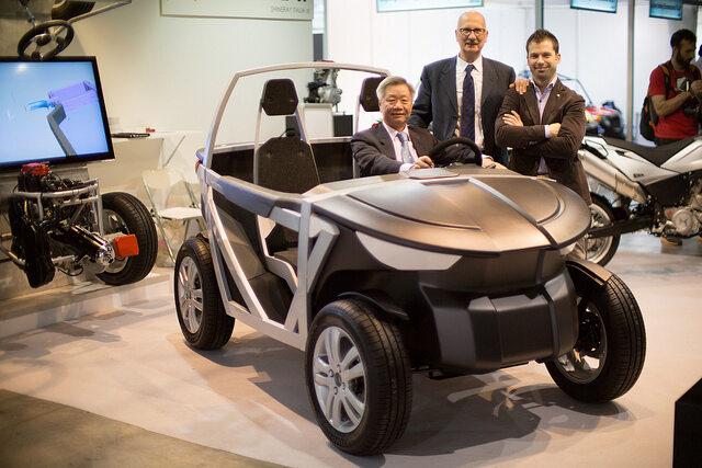 Założyciel OSV i szef działu projektantów przy Urban TABBY (fot. EICMA Milan 2013 by OS Vehicle)