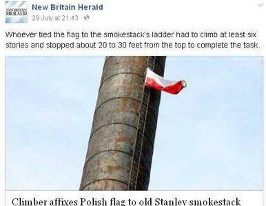 Polska flaga zawisła na kominie w Connecticut. Trwa śledztwo policji