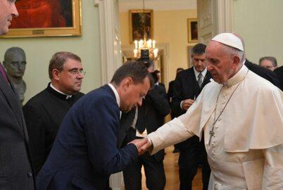 Spotkanie papieża z ministrem Błaszczakiem i szefami służb