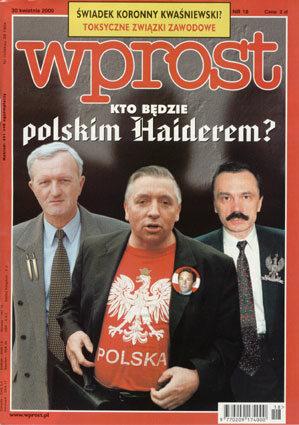 Okładka tygodnika Wprost nr 18/2000 (909)