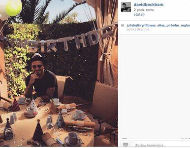 #DB40. David Beckham ma 40 lat. Świętuje na Instagramie