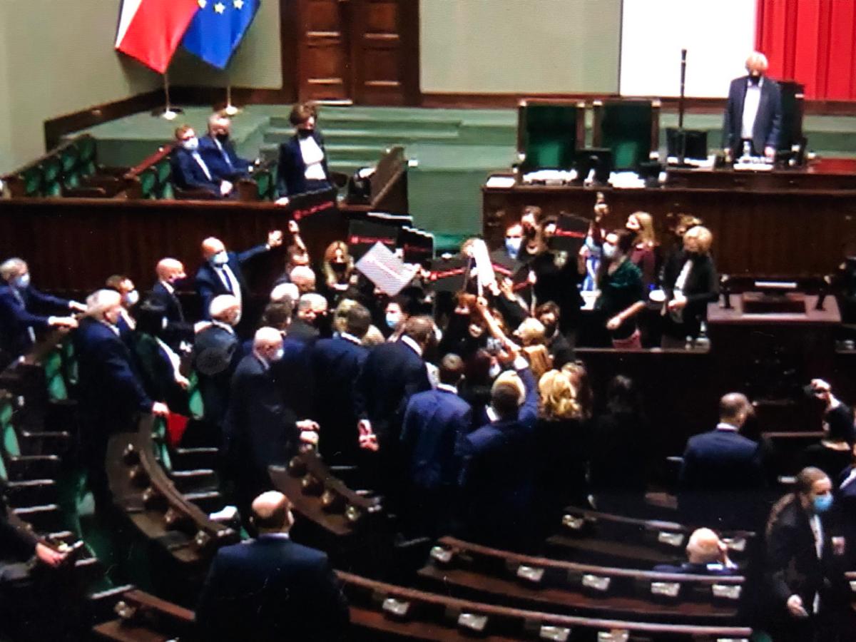 Kadr z 20. posiedzenia Sejmu