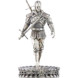 Pierwsza na świecie moneta w kształcie figurki. Przedstawia Geralta z Rivii