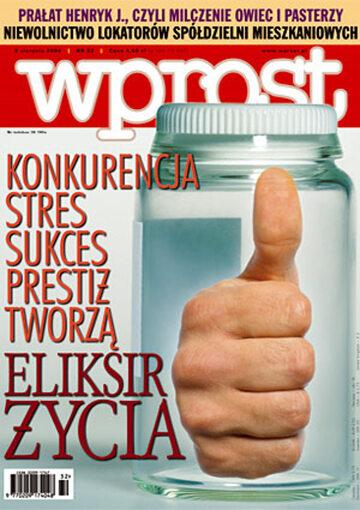 Okładka tygodnika Wprost nr 32/2004 (1132)