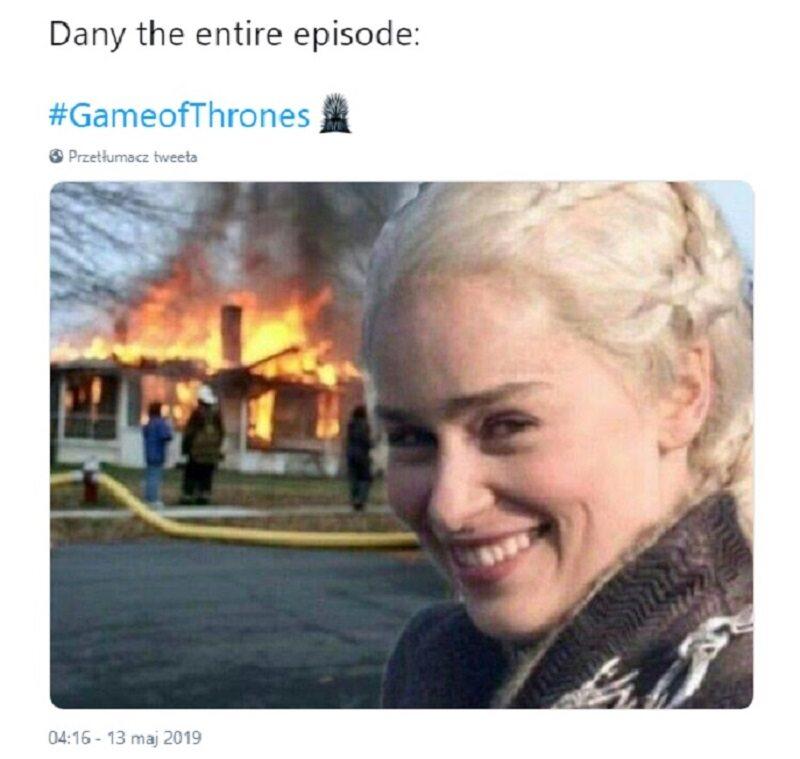 Daenerys przez cały odcinek