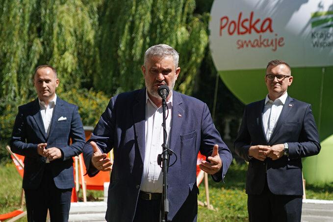 D. Goszczyński Dyr. Generalny KRD, minister J. K. Ardanowski, M. Wroński, Zastępca Dyr. Generalnego KOWR