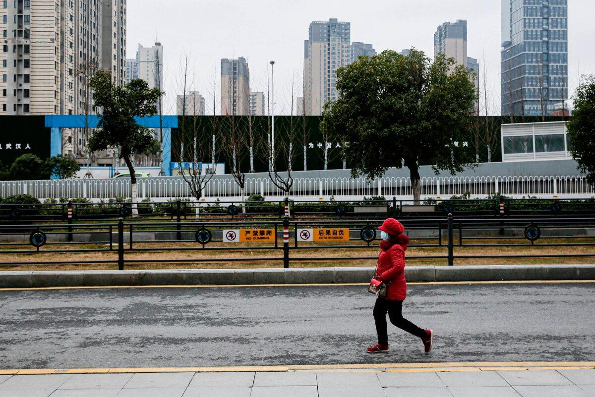 Kobieta w Wuhan