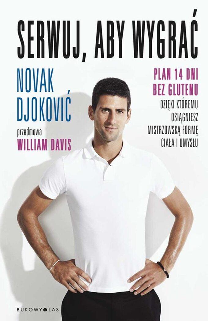 """Książka """"Serwuj, abywygrać"""". Novak Djokivić."""