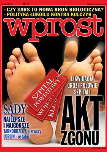 Okładka tygodnika Wprost nr 18/2003 (1066)