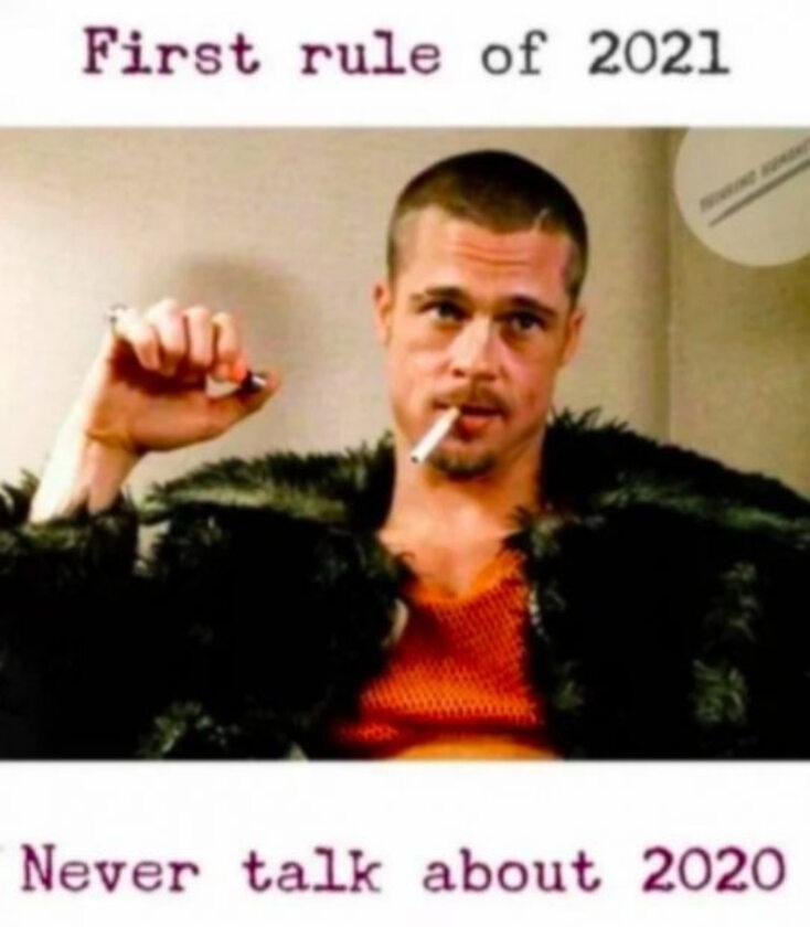 Mem z początku 2021 roku