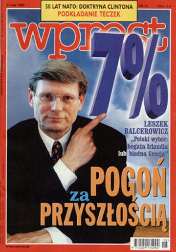 Okładka tygodnika Wprost nr 18/1999 (857)