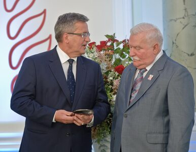 Komorowski: Państwo powinno zadbać o godną egzystencję Wałęsy