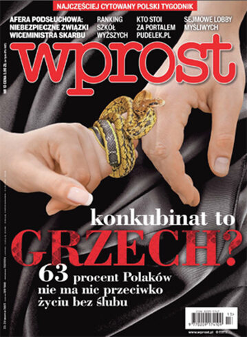Okładka tygodnika Wprost nr 13/2015 (1672)