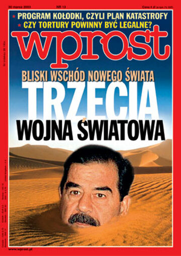 Okładka tygodnika Wprost nr 13/2003 (1061)