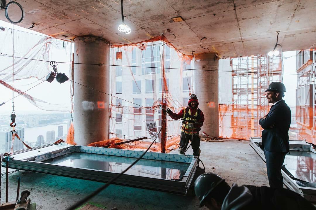 Zdjęcie z budowy Central Park Tower