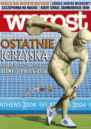 Okładka tygodnika Wprost nr 35/2004 (1135)