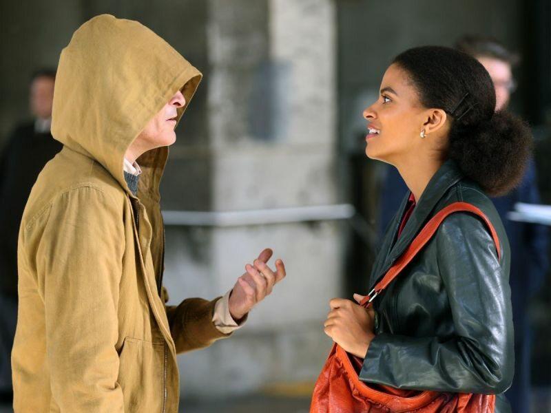 "Joaquin Phoenix i Zazie Beetz na planie filmu ""Joker"""