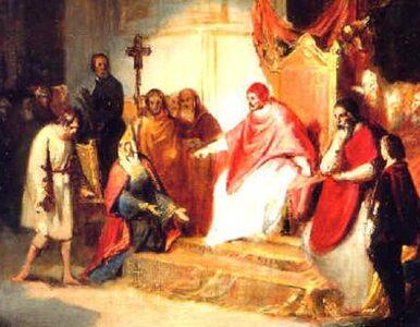 Canossa i ukorzenie się Henryka IV przed papieżem. Spór o inwestyturę,...