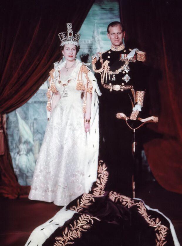 Książę Filip na portrecie koronacyjnym Elżbiety II w 1953 roku