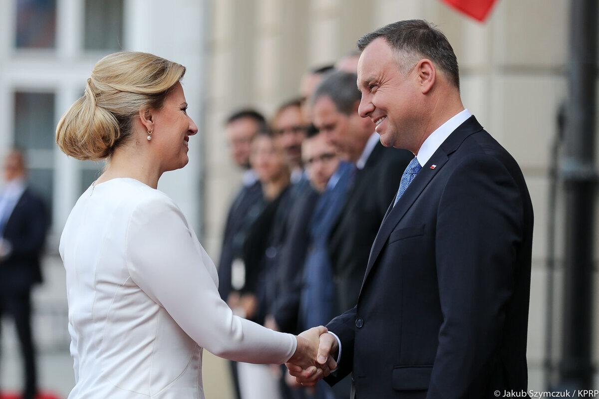Andrzej Duda i Zuzana Čaputova
