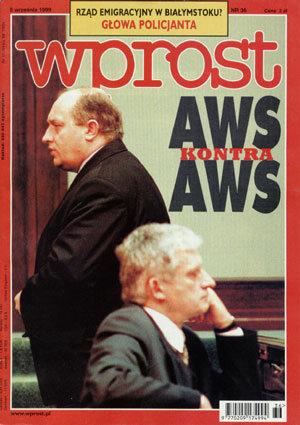 Okładka tygodnika Wprost nr 36/1999 (875)