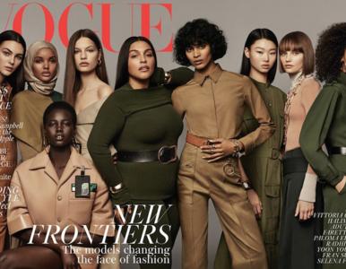 """Historyczna okładka brytyjskiego """"Vogue"""". Pojawiła się modelka w hidżabie"""