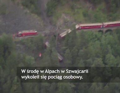 Pociąg osobowy wykoleił się w szwajcarskich Alpach