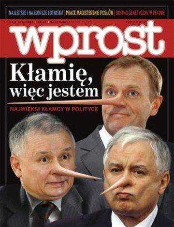 Okładka tygodnika Wprost nr 31/2008 (1336)
