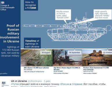 Brytyjczycy pokazują Rosjanom ich czołgi. Na Ukrainie