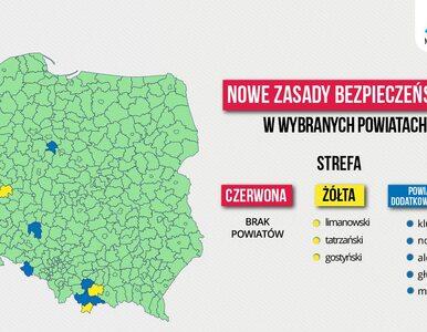 """Nowa lista powiatów czerwonych i żółtych w Polsce. """"Same dobre informacje"""""""