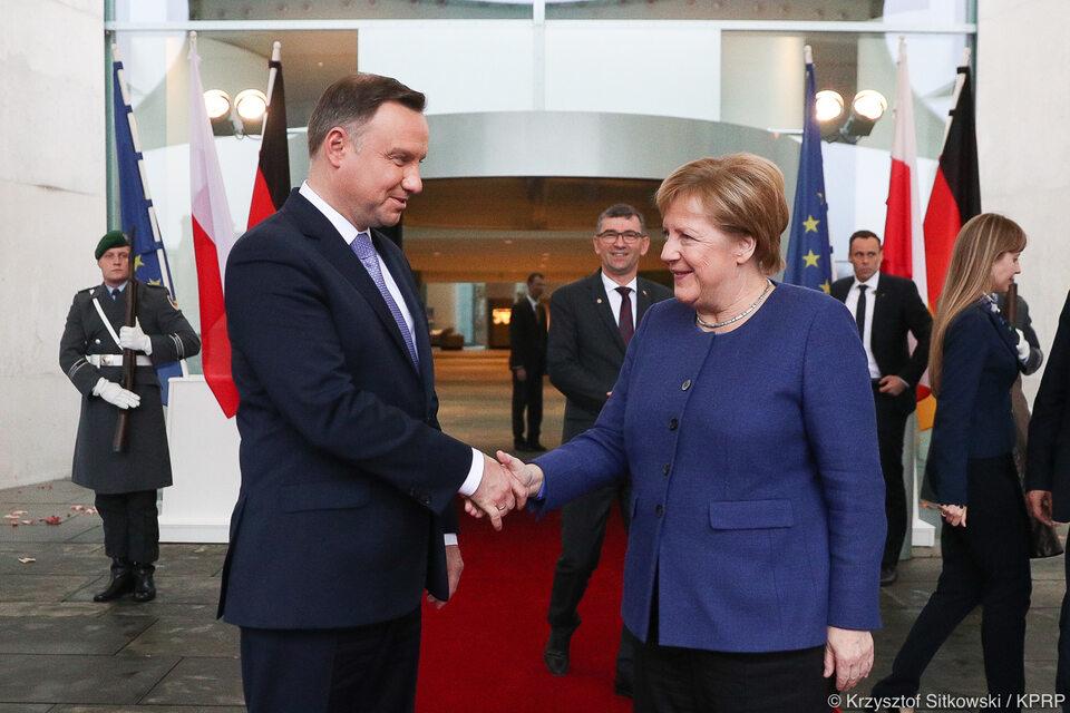 Andrzej Duda i Angela Merker