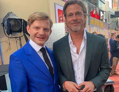 """Rafał Zawierucha pozuje z Bradem Pittem i Quentinem Tarantino. """"Teraz..."""