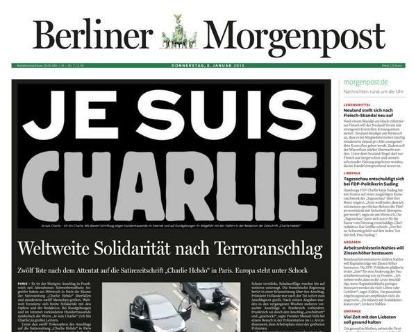 """Berliner Morgenpost - """"Światowa jedność przeciw terroryzmowi"""""""