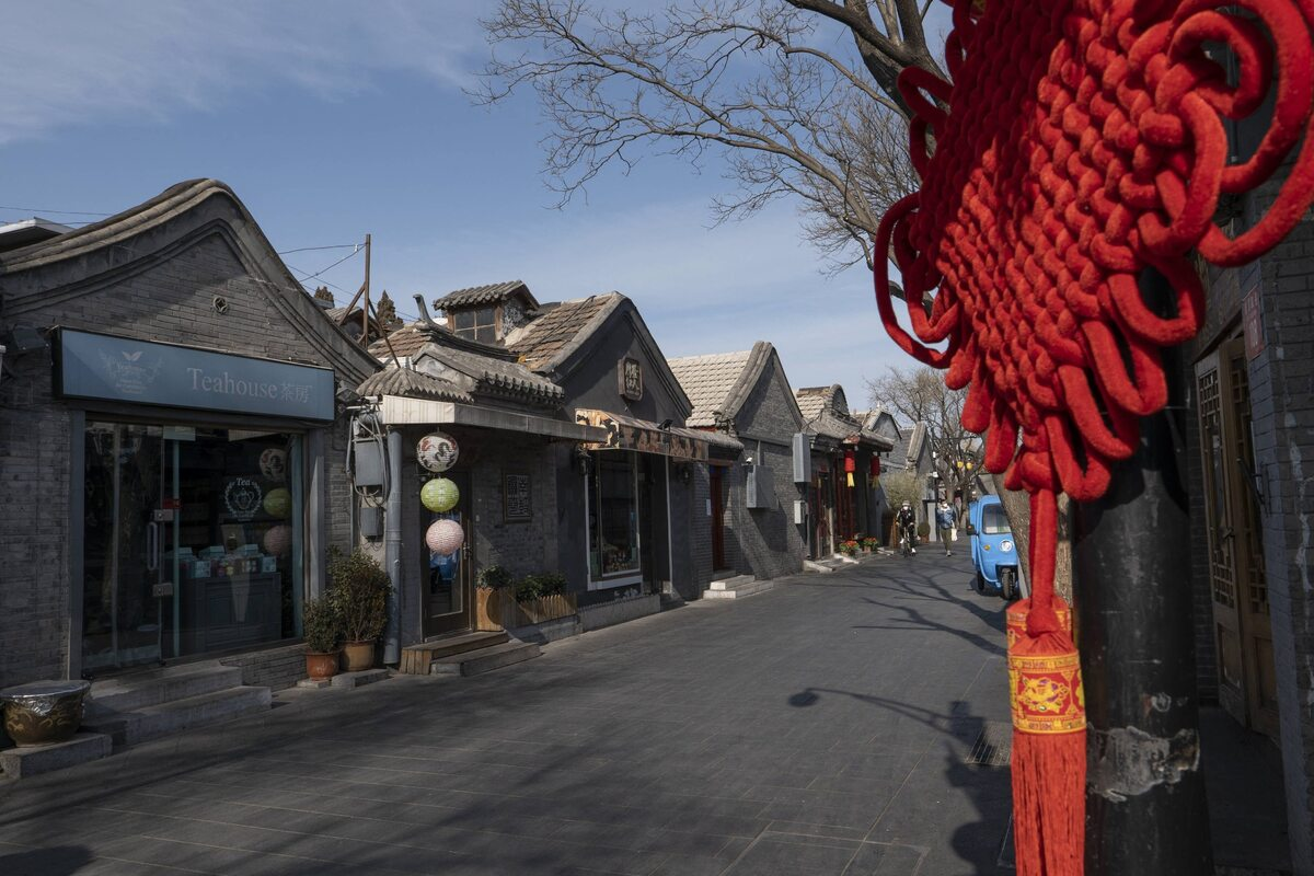 Pustki na ulicach Pekinu