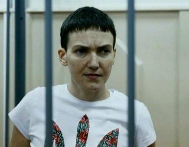 Sawczenko posłuchała prośby prezydenta. Zaczęła pić wodę