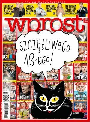Okładka tygodnika Wprost nr 1/2013 (1558)