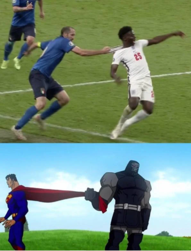 Mem po meczu Anglików z Włochami
