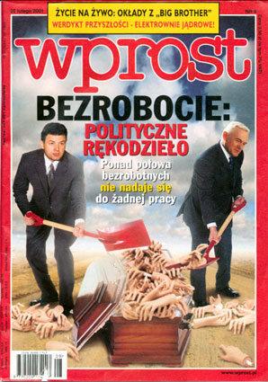 Okładka tygodnika Wprost nr 8/2001 (952)