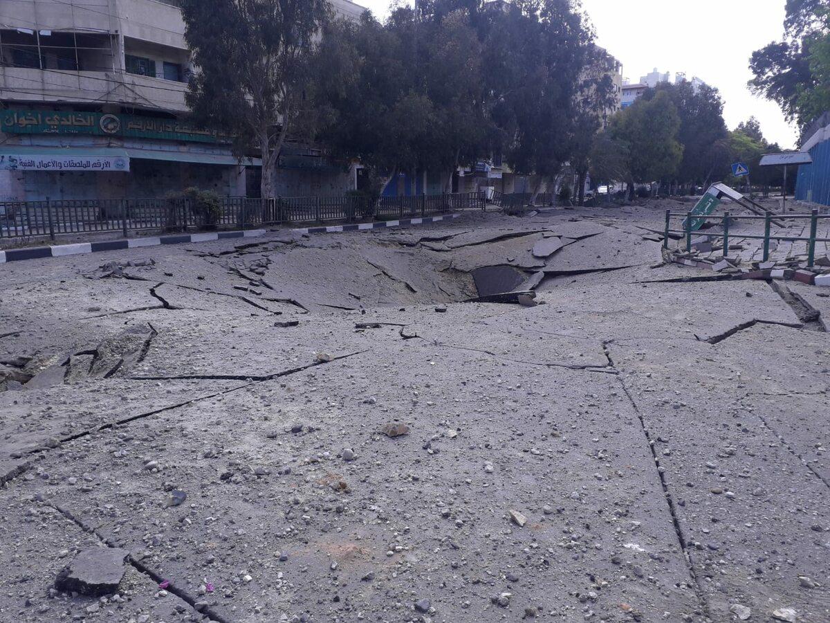 Strefa Gazy Zdjęcia pokazujące rezultat izraelskich bombardowań na Strefę Gazy
