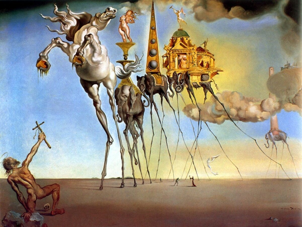 """Salvador Dali """"The Temptation of St. Anthony"""" 1946 r."""