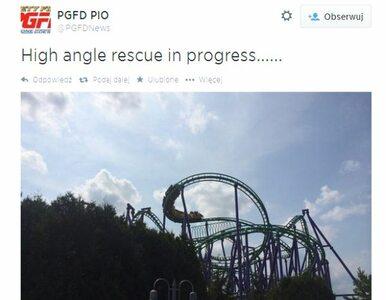 14 metrów nad ziemią. Rollercoaster utknął na 5 godzin