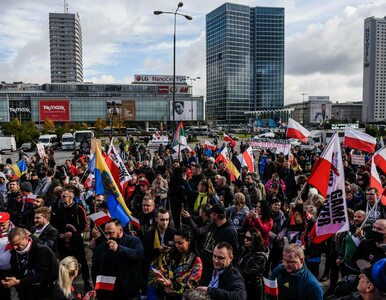 Policja kontra przeciwnicy obostrzeń w Warszawie. Ponad 120...