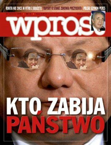 Okładka tygodnika Wprost nr 16/2008 (1321)